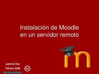 Instalación de Moodle en un servidor remoto