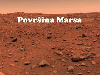 Povr š ina Marsa