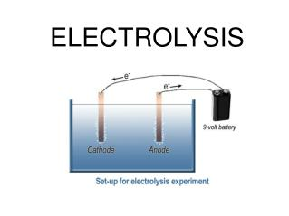 an introduction to the break down of a substance by electricity Hazardous substances in electrical and electronic equipment (rohs)  they  cannot be broken down further  printer friendly introduction and instructions.