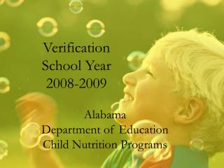 Verification School Year 2008-2009