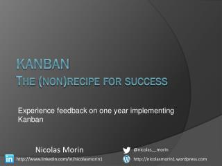 Kanban The (non)recipe for success