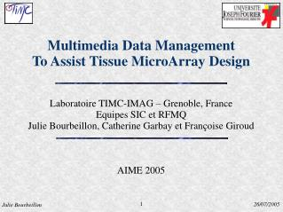 Multimedia Data Management  To Assist Tissue MicroArray Design