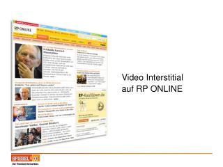 Video Interstitial auf RP ONLINE