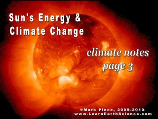 Suns Energy   Climate Change