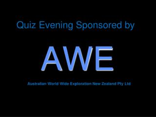 Quiz Evening Sponsored by