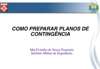 COMO PREPARAR PLANOS DE CONTINGÊNCIA