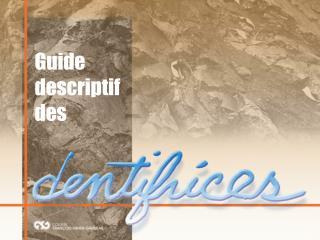 Guide descriptif des