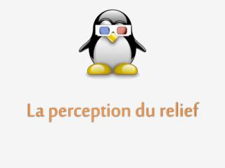 La perception du relief