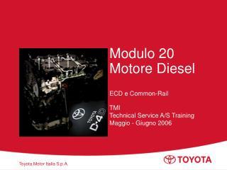 Modulo 20 Motore Diesel