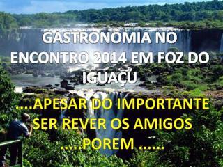 GASTRONOMIA NO ENCONTRO 2014 EM FOZ DO IGUAÇU