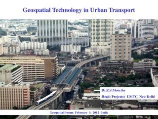 Geospatial Technology in Urban Transport