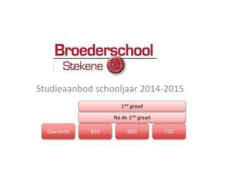 Studieaanbod schooljaar 2014-2015