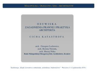OSUWISKA  ZAGADNIENIA PRAWNE I PRAKTYKA ARCHITEKTA CICHA KATASTROFA