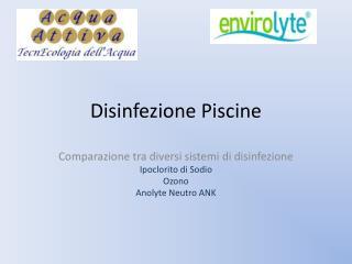 Disinfezione Piscine