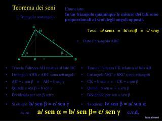 Dato il triangolo ABC