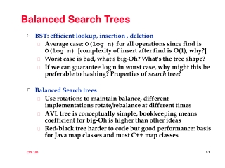 Balanced Search Trees