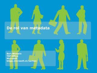 De rol van metadata