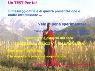 Un TEST Per te!