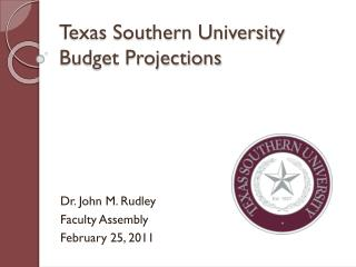 Texas Southern University Budget Projections