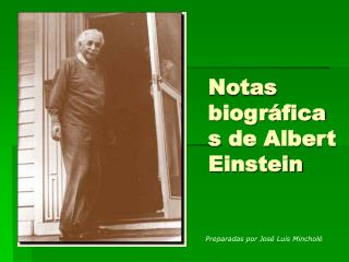 Notas biográficas de Albert Einstein