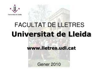 FACULTAT DE LLETRES