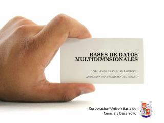 BASES DE DATOS MULTIDIMNSIONALES  ING. Andrés Vargas Londoño andresvargas@uniciencia.co