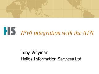 IPv6 integration with the ATN