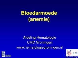 Bloedarmoede  (anemie)