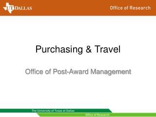 Purchasing & Travel