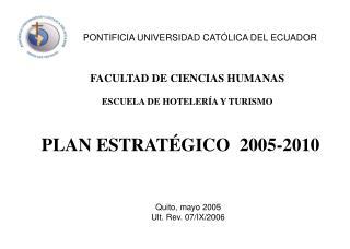 PLAN ESTRATÉGICO  2005-2010