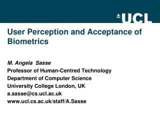 User Perception and Acceptance of Biometrics
