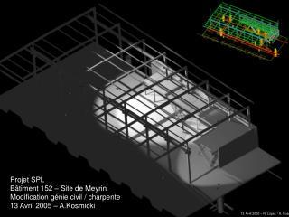 Projet SPL Bâtiment 152 – Site de Meyrin Modification génie civil / charpente
