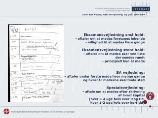 Søren Beck Nielsen, noter om vejledning, adj. pæd. 2008-2009