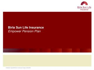 Birla Sun Life Insurance Empower Pension Plan