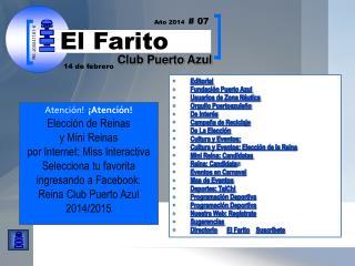 Editorial Fundación Puerto Azul  Usuarios de Zona Náutica Orgullo Puertoazuleño De Interés