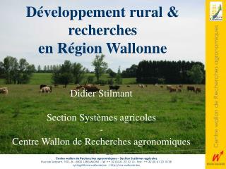 Développement rural & recherches en Région Wallonne