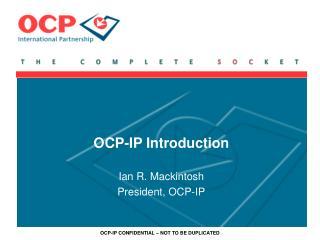 OCP-IP Introduction