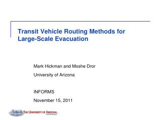 Transit Vehicle Routing Methods for Large-Scale Evacuation