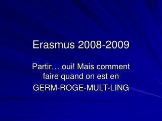Erasmus 2008-2009