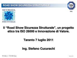 ROAD SHOW SICUREZZA STRUTTURALE