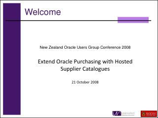 New Zealand Oracle Users Group Conference 2008