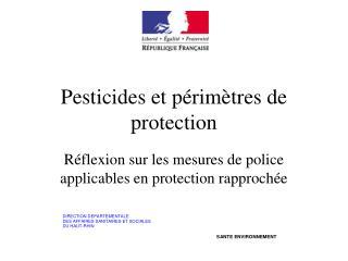 Pesticides et périmètres de protection