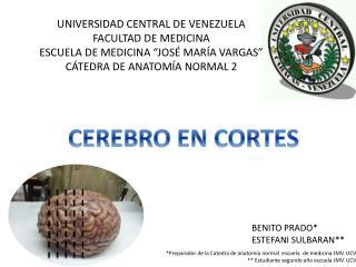 """UNIVERSIDAD CENTRAL DE VENEZUELA FACULTAD DE MEDICINA ESCUELA DE MEDICINA """"JOSÉ MARÍA VARGAS"""""""