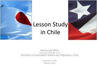 Lesson Study in  Chile