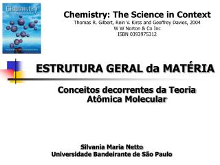 Conceitos decorrentes da Teoria At�mica Molecular