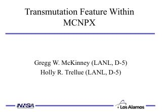 Transmutation Feature Within MCNPX