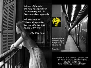 Nh ạc Bản  D iễm Xưa  c ủa Trịnh Côn Sơn Do  Yoshi Imamura  và  Liz Kinon  trình