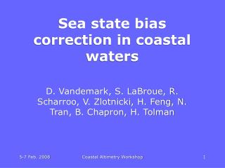Sea state bias correction in coastal waters
