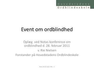 Event om ordblindhed