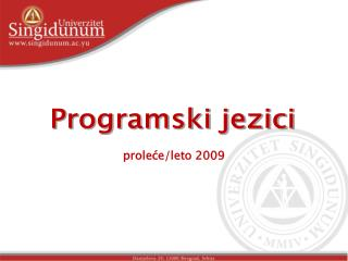 prole?e/leto 2009